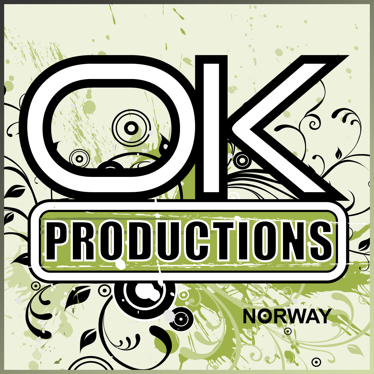 Ok productions norway grunge logo