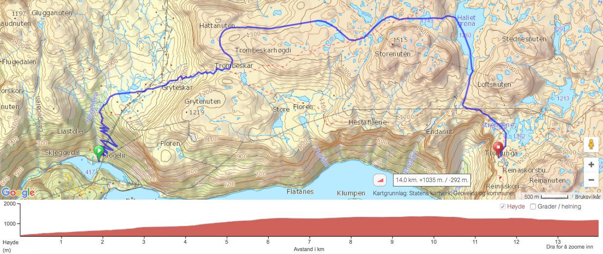 kart over trolltunga HardingEkspedisjon: Trolltunga desember kart over trolltunga
