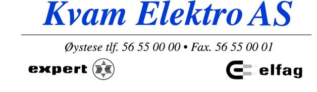Default kvam elektro ny logo bla e